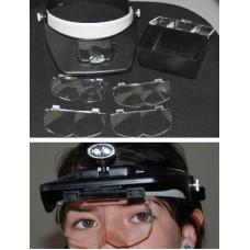 Magnifier: Head Magnifier w/Center LED Lights